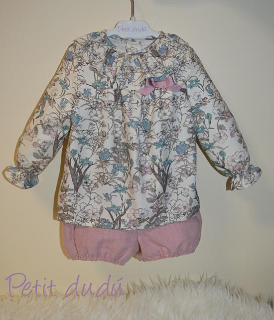conjunto de blusón y Bombacho niña Petitdudu