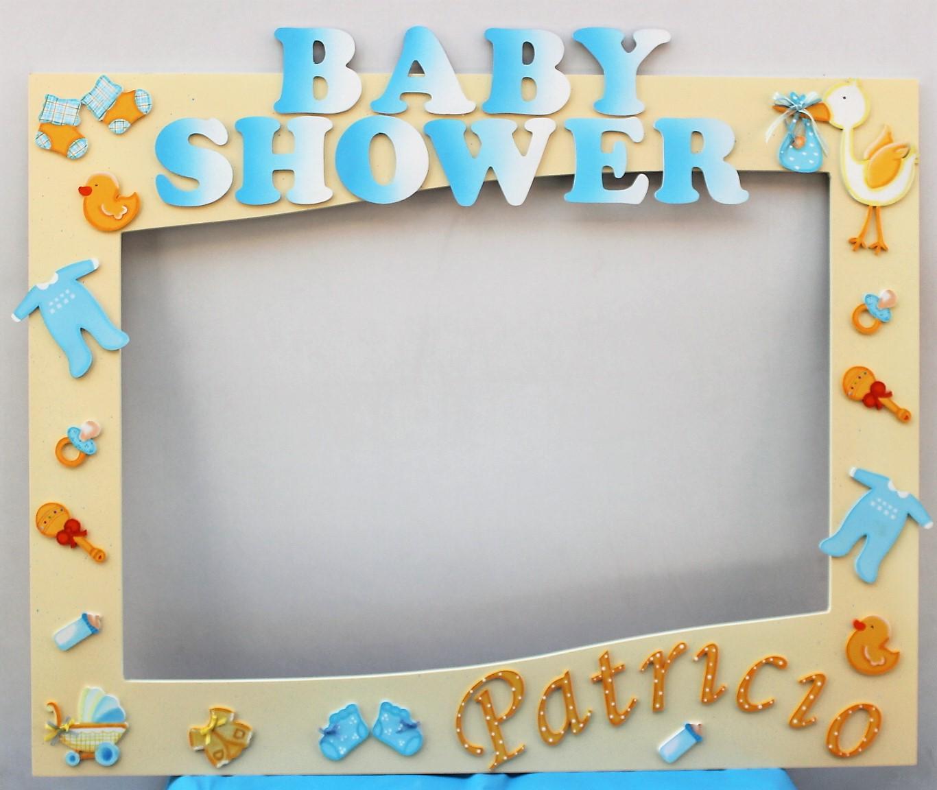 Manualidades en mdf marco para baby shower base patito y for Decoracion marcos fotos
