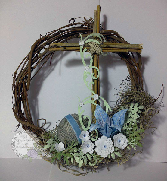 An Elegant Touch An Easter Wreath The Cross