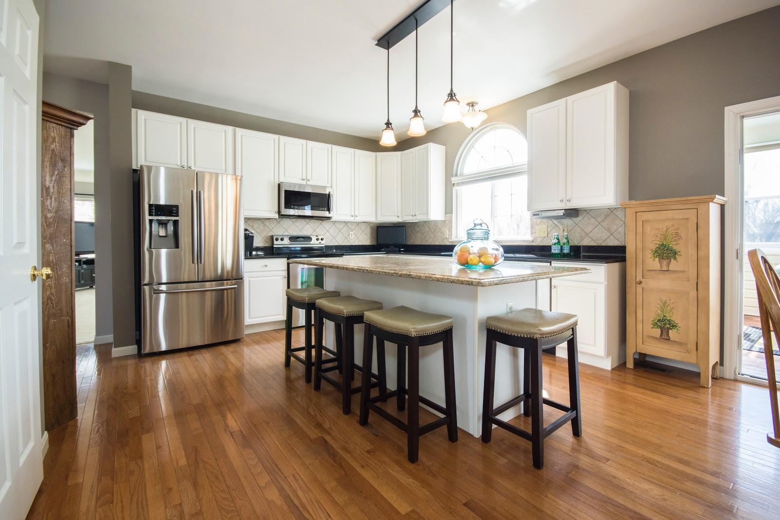 White Wooden Kitchen Island
