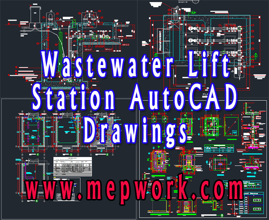 Download Sewage Pumping Station AutoCAD Layout free dwg