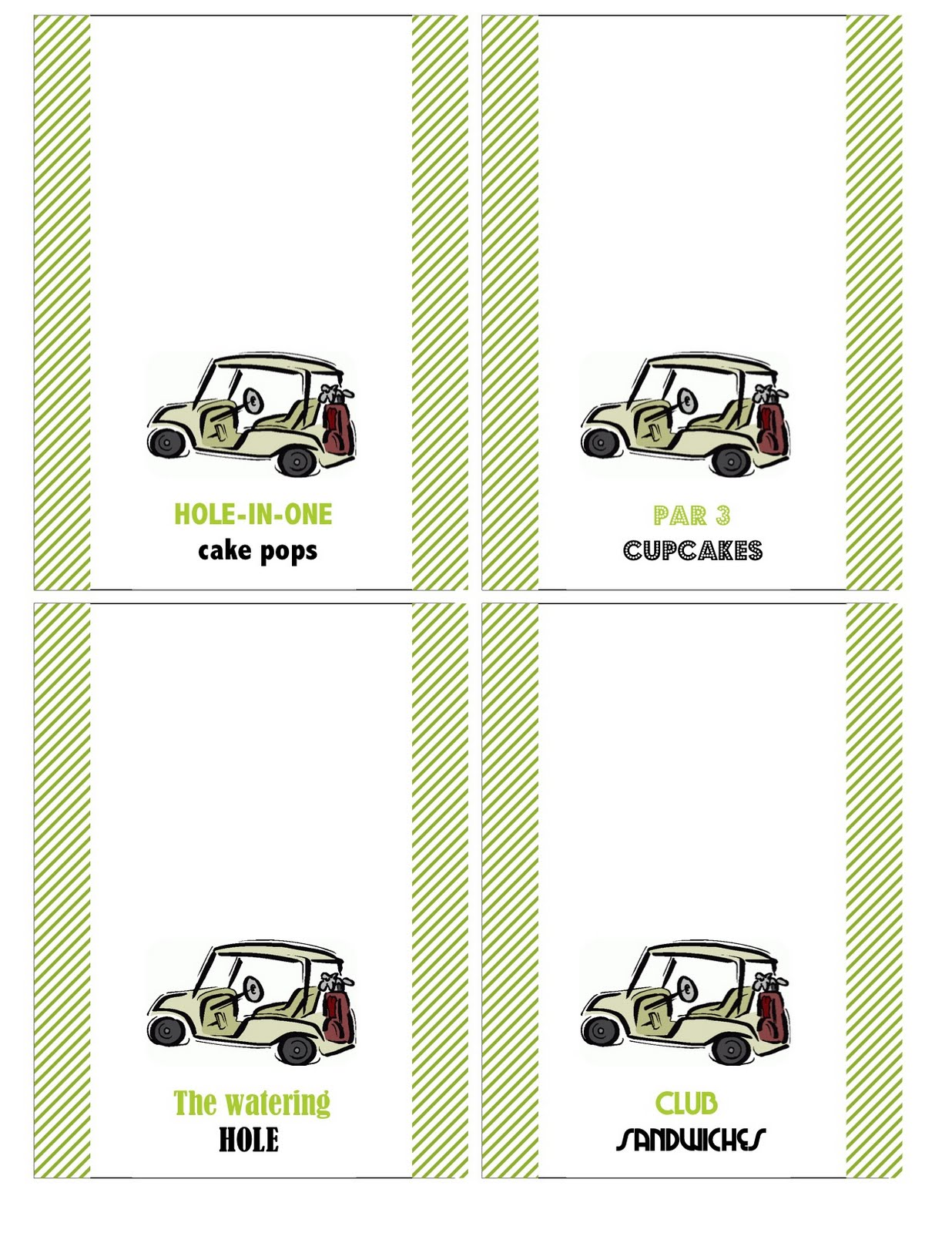 Just For Fun Golf Printables