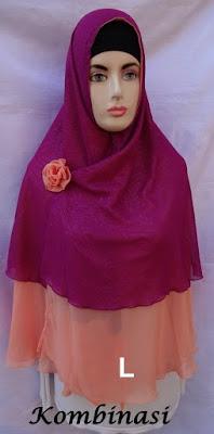 Grosir Jilbab Syiria Khimar Kombinasi