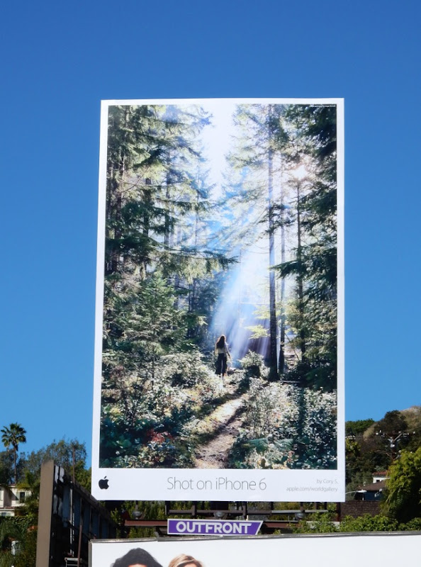 Shot on iPhone 6 girl in forest billboard