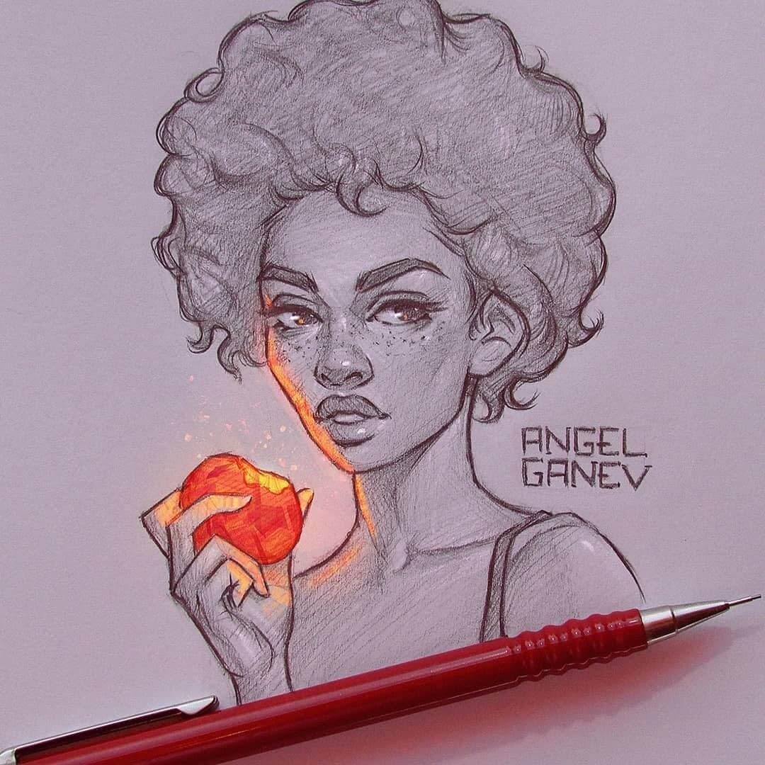 02-Fruity-Angel-Ganev-Luminous-Pencil-Portraits-that-Glow-www-designstack-co