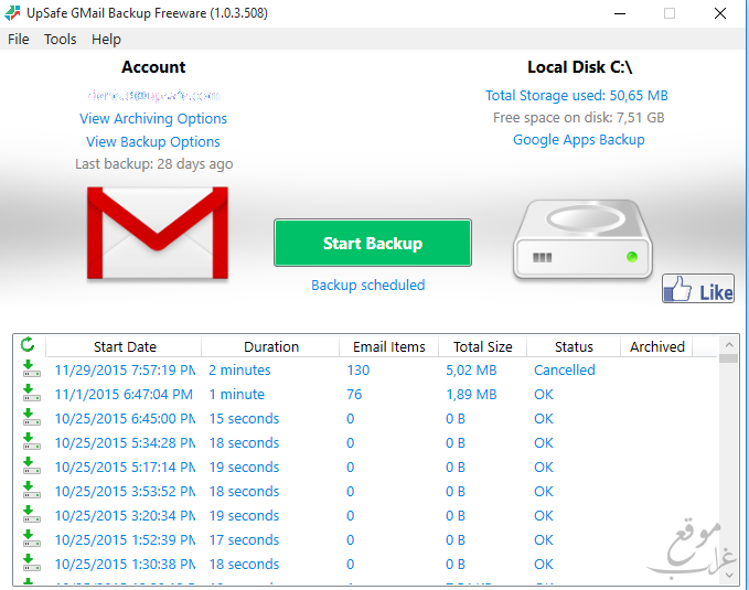Free Gmail Backup