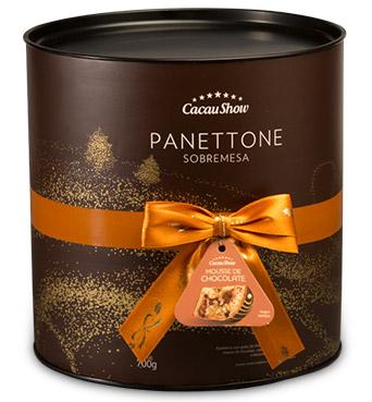 Cacau Show Natal 2016 sobremesas lata panettone tradicional sabor mousse de chocolate