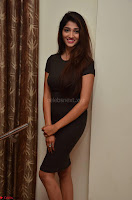 Priya Vadlamani super cute in tight brown dress at Stone Media Films production No 1 movie announcement 071.jpg
