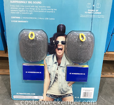 Costco 1118002 - Ultimate Ears Wonderboom SE Portable Bluetooth Speakers: great for being out poolside or a day at the beach