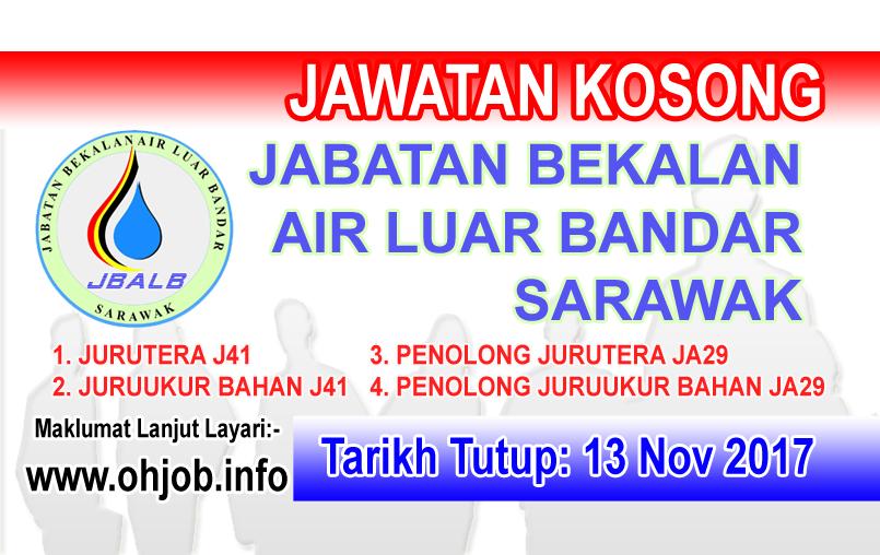 Jawatan Kerja Kosong Jabatan Bekalan Air Luar Bandar Sarawak logo www.ohjob.info november 2017