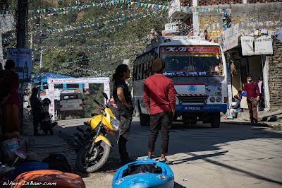Upper Marsyangdi, kayak city bus whitewater, WhereIsBaer.com Chris Baer