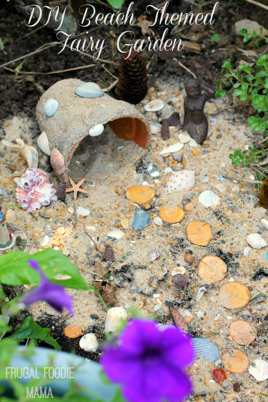 diy beach themed fairy garden