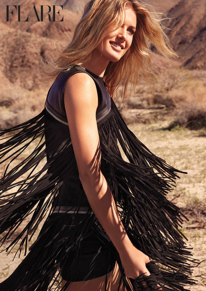 Eugenie Bouchard is glamorous for Flare Magazine June 2015