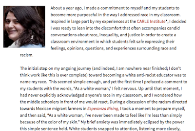 As a White Woman: Working Toward Becoming an Antiracist Educator