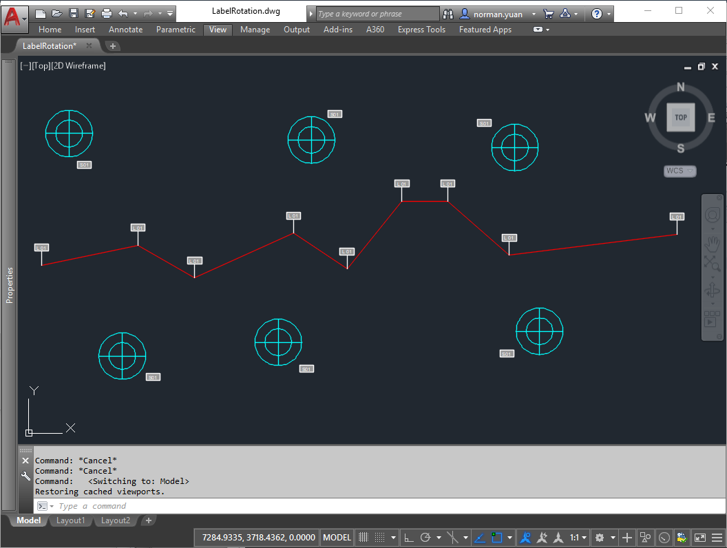 Drive AutoCAD with Code: Using Rotation Parameter/Action in