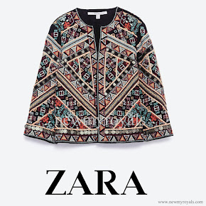 Queen Letizia Style ZARA embroidered jacket