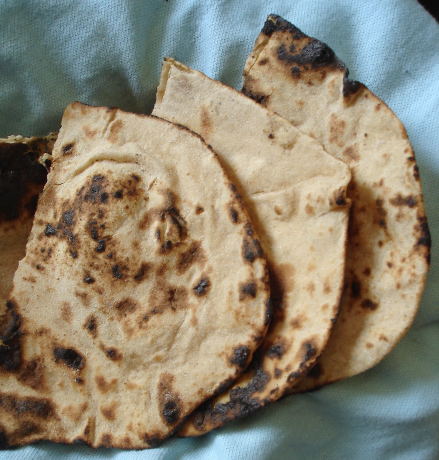 Tandoori roti on tawa