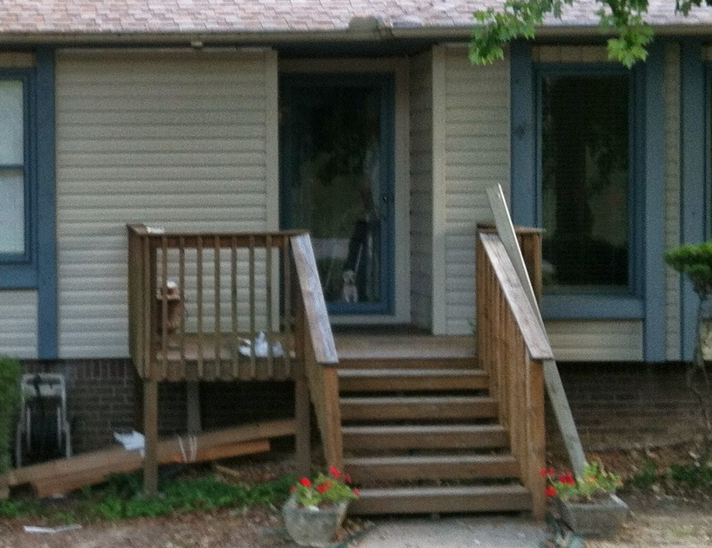Front porch - Wooden steps over concrete steps. | New ... |Wood Stoop Construction Ideas