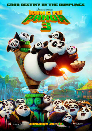 Poster of Kung Fu Panda 3 (2016) BRRip Dual Audio 720p