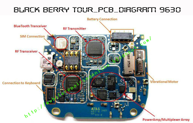 black berry tour layout schematics diagram