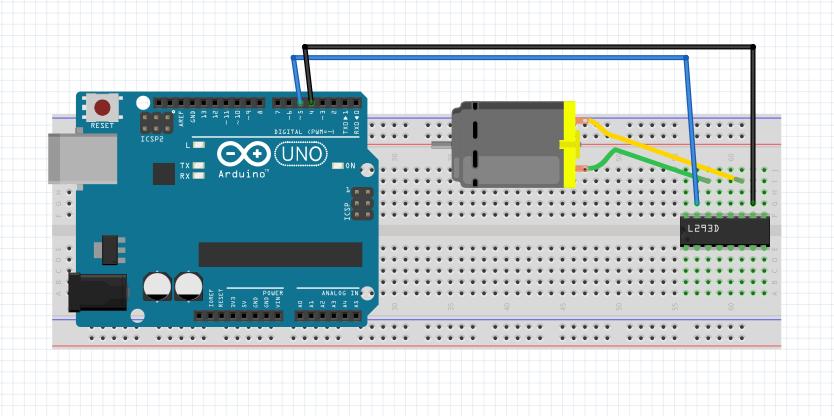 Tutorial Arduino, Dasar Kontrol Motor DC dengan Driver L293D