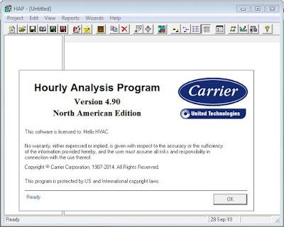 تحميل برنامج HAP 4.9 لحساب الاحمال الحرارية للتكييف