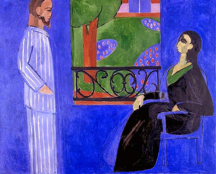 A Conversa - Pinturas de Matisse, Henri - (Fauvismo) Francês