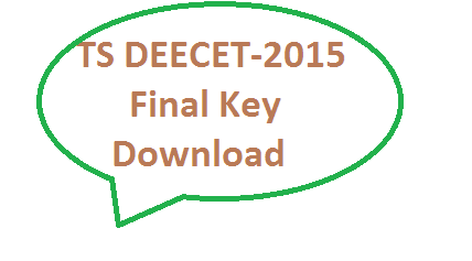 TS DEECET-2015 Final key for A B C D Download
