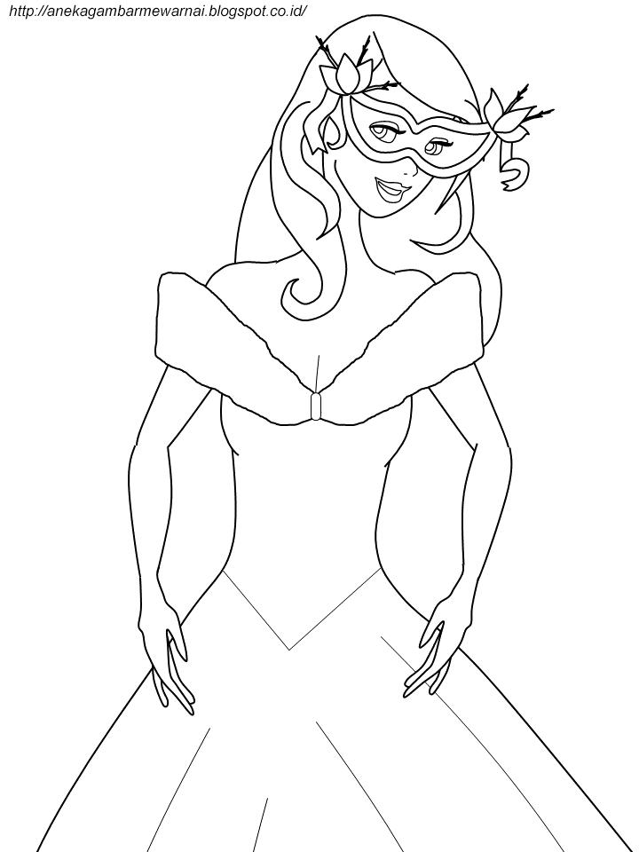Gambar Mewarnai Cinderella Untuk Anak PAUD dan TK 3