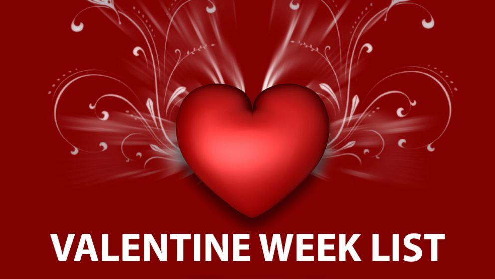 valentine week chart valentines day week valentine week days list with date valentines