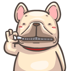 French Bulldog-PIGU VI Animated Stickers
