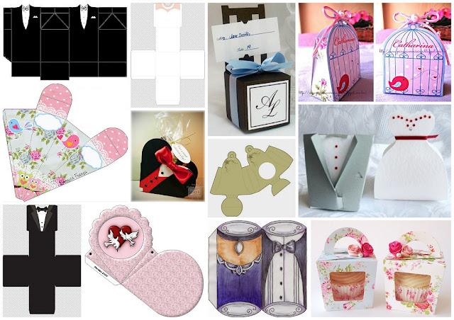 Wedding: 14 Cute Boxes. Free Printables and DIYs.