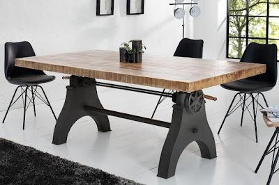 industrial nabytok, kovovy jedalensky stôl, velky jedalensky stol.