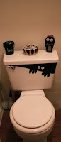 decorar el water del baño para halloween