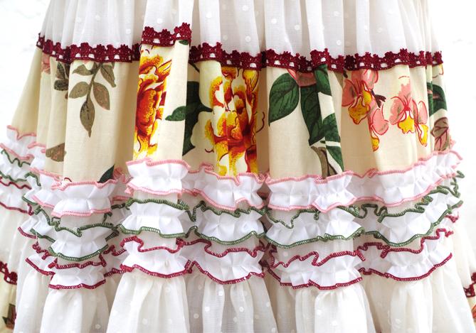Patrón atelia traje de flamenca canastero con cenefas