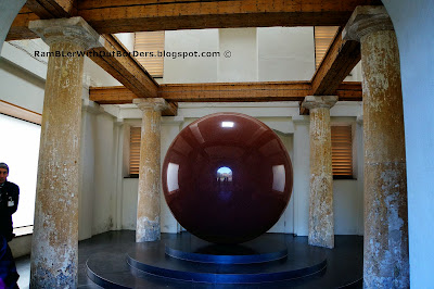 Large Red Sphere by Walter de Maria, Munich, Germany