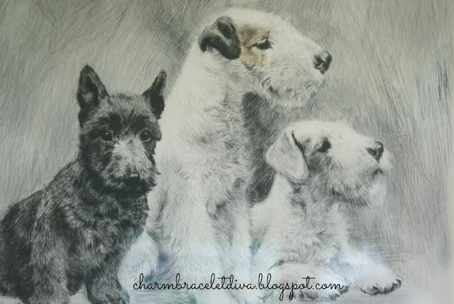 vintage terrier painting