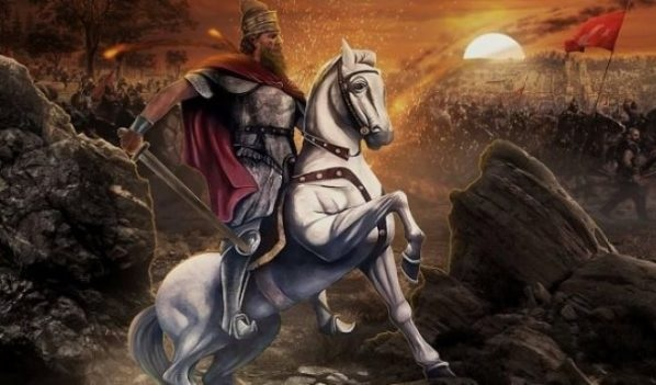 Skanderbeg on his horse