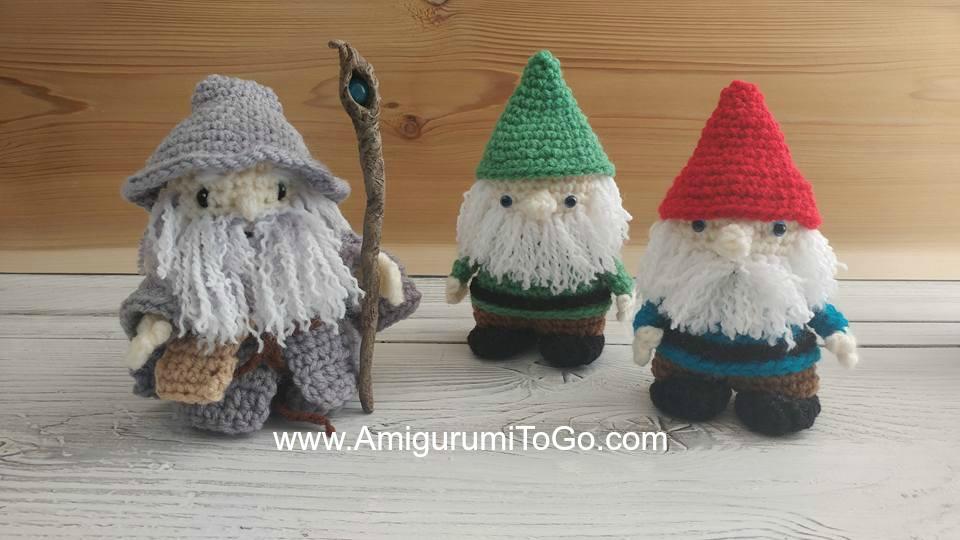 crochet gandalf and gnomes