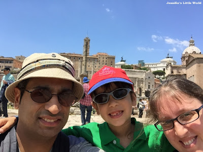 Family selfie on a day trip to Rome