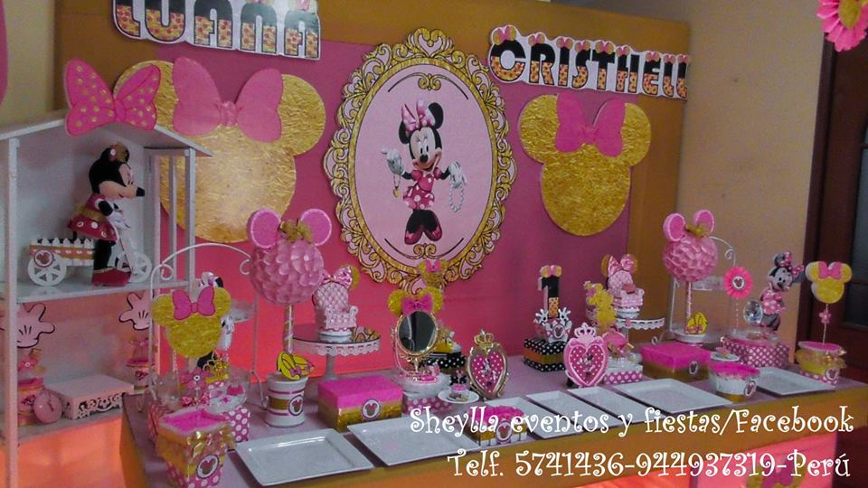 Decoración Tortas Fiestas Infantiles Minnie Frozen