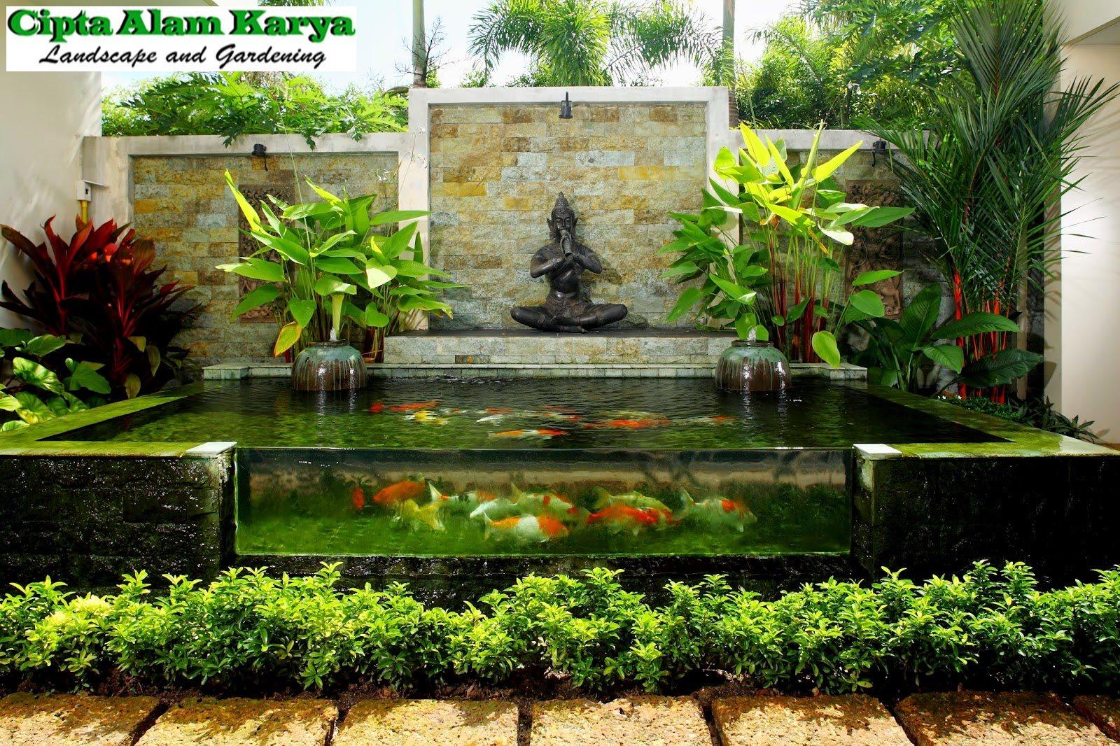 Desain Taman Ala Bali