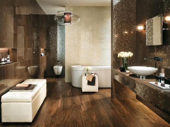 10 fotos de baños en marrón chocolate - Colores en Casa