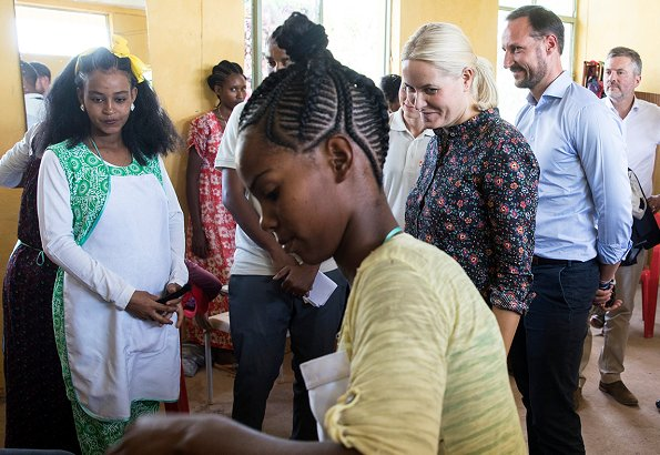 Crown Prince Haakon and Crown Princess Mette-Marit visited Hitsats Refugee Camp in Tigray region, Ethiopia