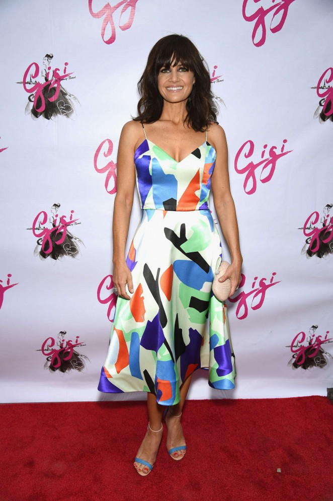 Carla Gugino in a flirty dress at the 'Gigi' Broadway Opening Night in NYC