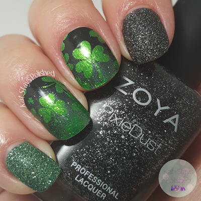 Jamberry Shamrockin' | Zoya Dahlia | Kat Stays Polished