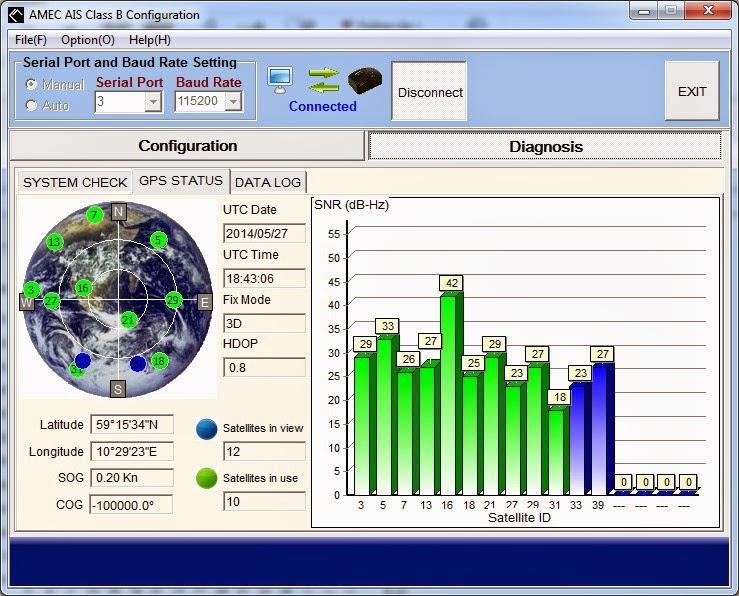 AMEC AIS amino-108 GPS-signal (under dekk)