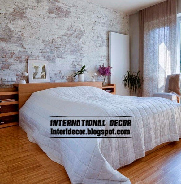 brick wall designs, Brick in the wall, interior brick wall in bedroom