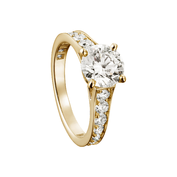 Cartier Solitaire 1895 Yellow Gold - Wroc Awski
