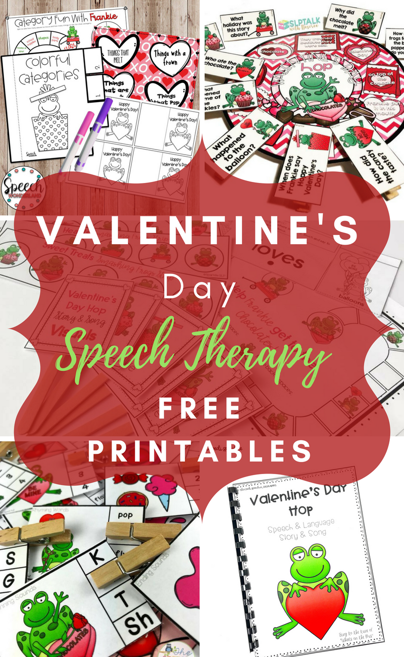 free speech therapy valentine 39 s day activities the pedi speechie. Black Bedroom Furniture Sets. Home Design Ideas